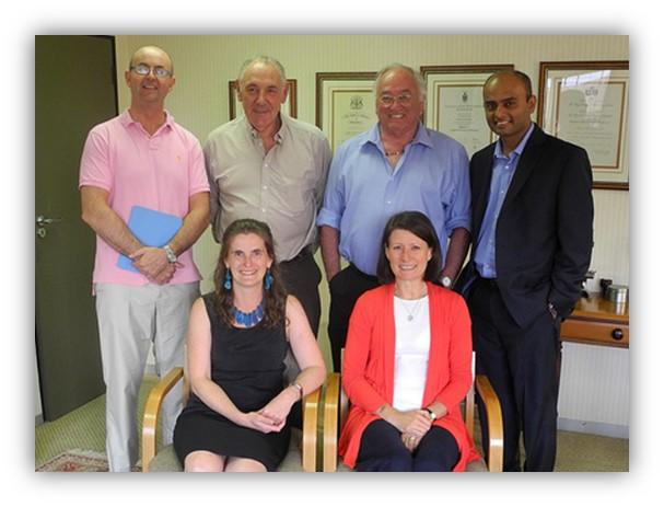 The Learna team meet CDE team